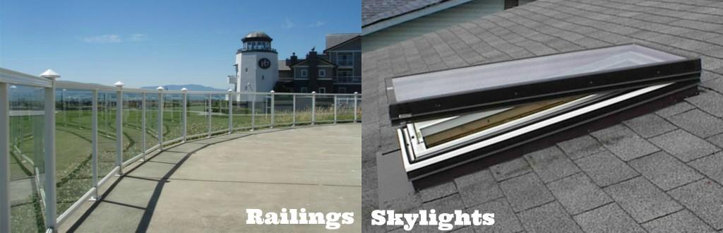 Railings and Skylights